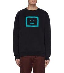 check face print sweatshirt