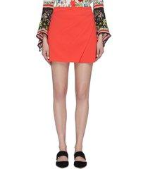 'shaylee' asymmetric mock wrap mini skirt