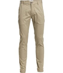 classic chino with stretch chino broek beige lindbergh