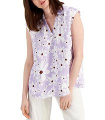 alfani floral-print top, created for macy's