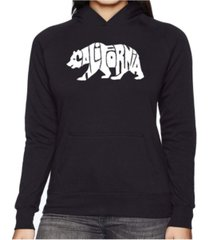 la pop art women's word art hooded sweatshirt -california bear