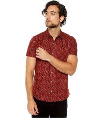 camisa hombre mc vinotinto s5167