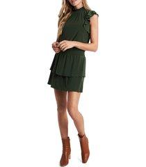 women's 1.state flutter sleeve drop waist knit dress, size large - green
