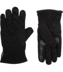 isotoner signature men's lined fleece water repellent glove