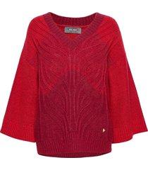 jenner cable knit stickad tröja röd mos mosh