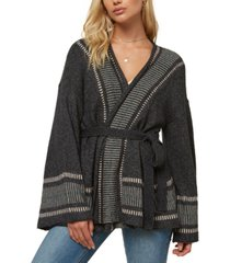 o'neill juniors' doheny belted cardigan