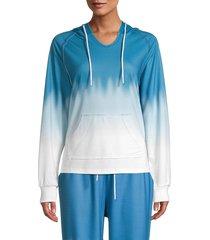 wdny women's tie-dyed sweatshirt - indigo - size xl