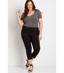 maurices plus size womens black bengaline cropped pants