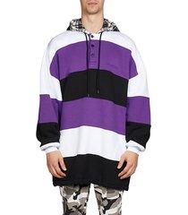 patchwork cotton hoodie