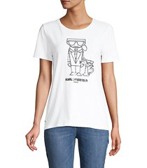 karl & choupette graphic t-shirt