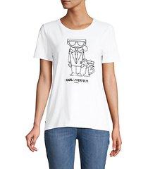 karl & choupette graphic t-shirt