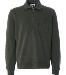ymc sugden cotton loopback zip sweatshirt | dark olive | p7qaa-30