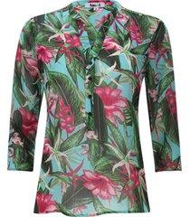 blusa flores hawaianas color rosado, talla xs