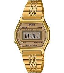 reloj casual lujo dorado casio