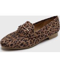 zapato de vestir leopardo multicolor agua de coco