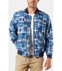 dockers men's patchwork bomber jacket