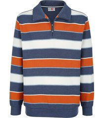 sweatshirt roger kent blauw::terracotta::ecru