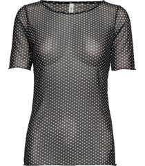 sc-alda blouses short-sleeved svart soyaconcept