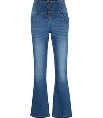 jeans elasticizzati modellanti a vita alta bootcut (blu) - john baner jeanswear