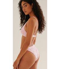 na-kd swimwear anglaise bikinitrosa med hög skärning - pink