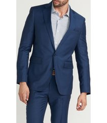 chaqueta formal liso azul perry ellis