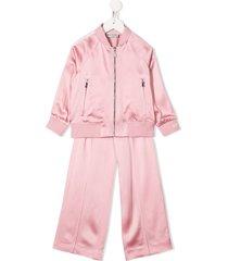 moncler enfant zipped tracksuit set - pink
