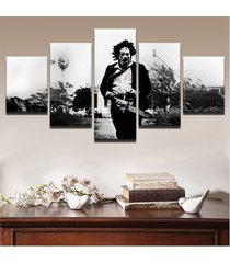 5 pieces the texas chainsaw massacre canvas print painting wall art home decor
