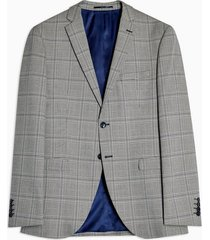 mens grey selected homme light gray check blazer