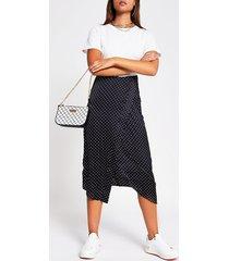 river island womens white spot print short sleeve midi dress