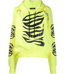 diesel f-albyhook-c relaxed-fit hoodie - yellow
