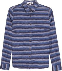 camisa rombos azules color azul, talla 6