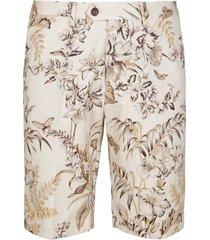 beige cotton shorts