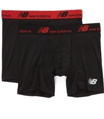 men's new balance 2-pack boxer briefs, size x-large - black