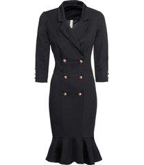 abito elegante di jersey (nero) - bodyflirt boutique