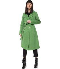 casaco sobretudo sarja colcci amarração verde - kanui