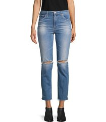 the isabelle high-rise destroyed crop jeans
