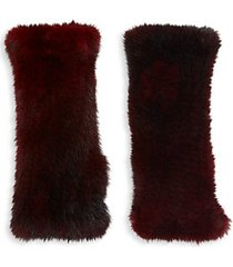 mink fur texting gloves