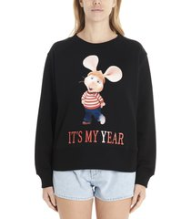 alberta ferretti topo gigio its my year sweatshirt