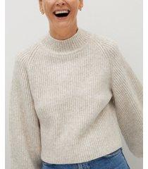 mango women's ribbed knit sweater