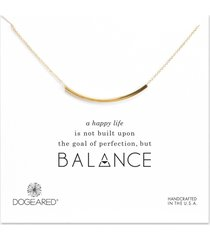dogeared balance tube necklace gold stone