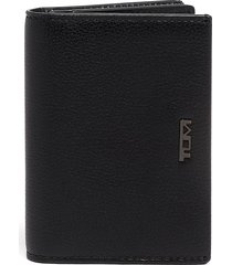 tumi gusseted leather card case -