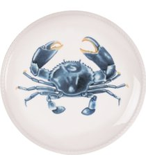 fitz and floyd cape coral collection crab accent plate