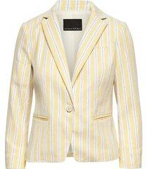 blazer shrunken stripe linen amarillo banana republic