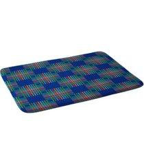 deny designs holli zollinger cross hatch blue bath mat bedding