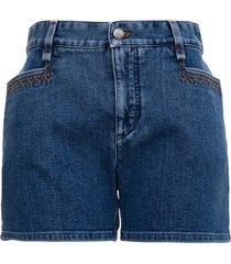chloé recycled denim shorts