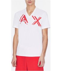 ax armani exchange men's v-neck ax 3-d logo t-shirt