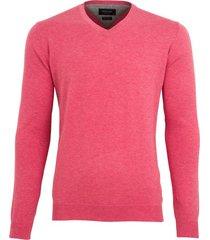 profuomo pullover pink v-hals pima katoen
