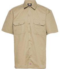 short sleeve work shirt kortärmad skjorta beige dickies