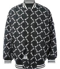 ktz square latin bomber jacket - black