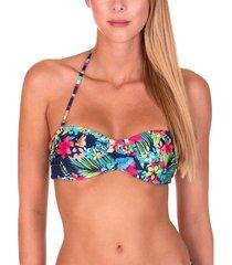 bikini lisca beugel omkeerbare bandeau top florida marineblauw